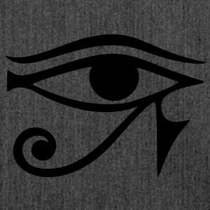 EYE of Horus/ Re, reverse moon eye of Thoth/ Felpe - Borsa in materiale riciclato