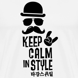 Like a keep calm in style moustache boss t-shirts Sweat-shirts - T-shirt Premium Homme