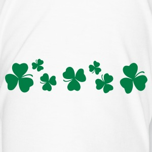 Shamrock clover leaves water bottle - Men's Premium T-Shirt