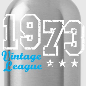 Vintage League 1973 Birthday Design T-Shirt - Drikkeflaske