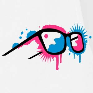 3D glasses in  graffiti style Tee shirts - Tablier de cuisine