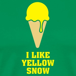 Yellow Snow Ice  - Männer Premium T-Shirt