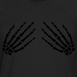 Black Skeleton hands on Women's T-Shirts - Men's Premium Longsleeve Shirt