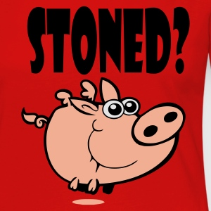 Red Stoned Pig! Men's Tees (short-sleeved) - Women's Premium Longsleeve Shirt