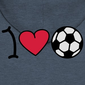 I love football T-Shirts - Men's Premium Hooded Jacket