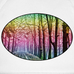 Nature - Rainbow - Forest - Park - Rural - Trees Shirts - Baseball Cap