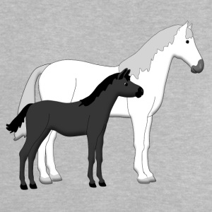 horse and foal white and black Accesorios - Camiseta bebé