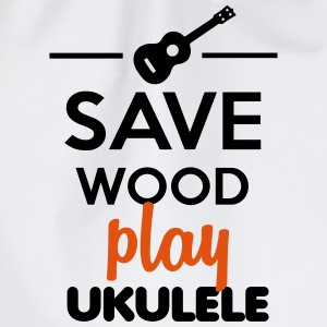 Ukulele muziekinstrument - Save Wood play Ukulele T-shirts - Gymtas