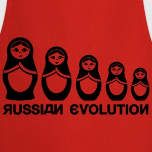 Russian Matryoshka Evolution  T-Shirts - Cooking Apron