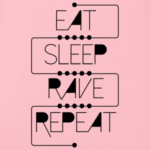 eat sleep rave repeat Accessoires - Baby Bio-Kurzarm-Body