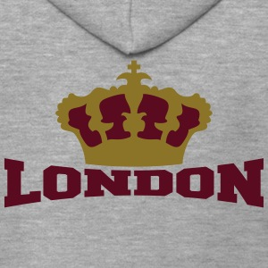 London Crown T-Shirts - Männer Premium Kapuzenjacke