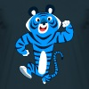 Big Blue Cartoon Tiger by Cheerful Madness!! Caps & Hats - Men's T-Shirt