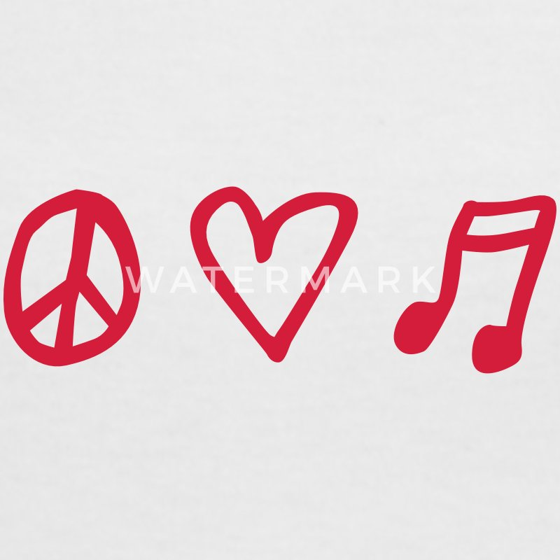 LOVEshirt Peace, love & music - Frauen Kontrast-T-Shirt