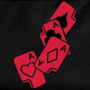 Poker Cards Game Ace Heart Spade Cross Caro Tattoo Tee shirts - Sac à dos Enfant