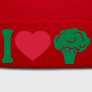 I love Herz broccoli vegetable logo T-Shirts - Winter Hat