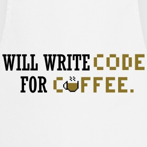 Will write code for coffee Tee shirts - Tablier de cuisine