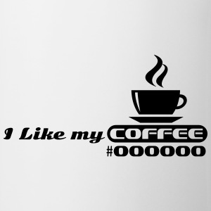 I like my coffee #000000 T-shirts - Kop/krus