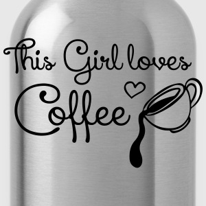 This girl loves Coffee T-shirts - Drikkeflaske