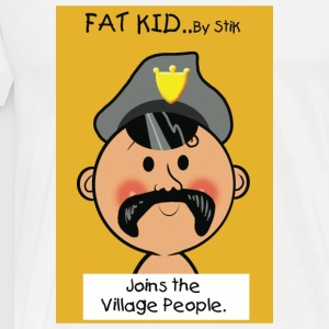 White Fat Kid..Joins the Village People. Men's T-Shirts - Men's Premium T-Shirt