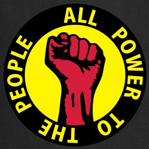 3 colors - all power to the people - against capitalism working class war revolution Toppar - Förkläde