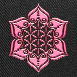 Flower of life, Lotus - Flower, pink, Symbol of pe - Snapback Cap