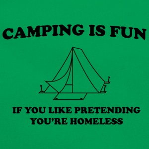 Camping Is Fun... T-Shirts - Retro Bag
