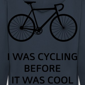 I Was Cycling Before It Was Cool T-Shirts - Men's Premium Hooded Jacket