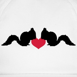 Love squirrel of heart nut T-Shirts - Baseball Cap