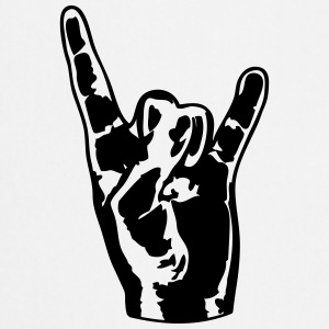 Cool metall Hand Finger Design T-shirts - Förkläde
