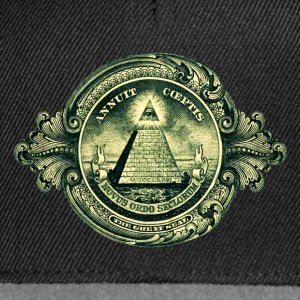 All seeing Eye, Pyramid, Dollar, Symbols, T-shirts & Hoodies - Snapback Cap
