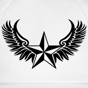 Nautical Star Wings, Tattoo Style, Protection Sign T-Shirts - Baseball Cap