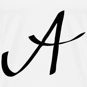 Logo A - name letter handwritten Baby Bodysuits - Men's Premium T-Shirt