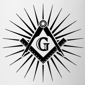 Freemasonry, Square Compass, Great Architect, God T-shirts - Kop/krus