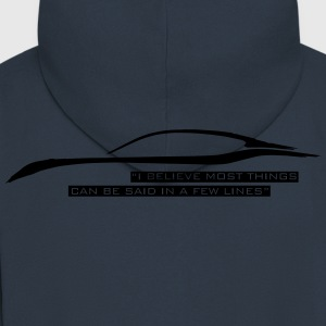 I believe most things can be said in a few lines - Men's Premium Hooded Jacket