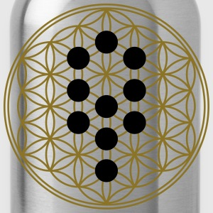 Flower of Life with 10 Sephiroth, Kabbalah, 2c Camisetas - Cantimplora