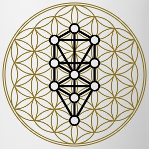 Flower of Life with 10 Sephiroth, Kabbalah, 2c Camisetas - Taza