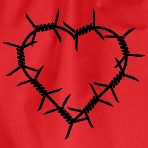 Barbed Wire Heart T-Shirts - Drawstring Bag