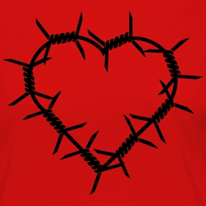 Barbed Wire Heart T-Shirts - Women's Premium Longsleeve Shirt