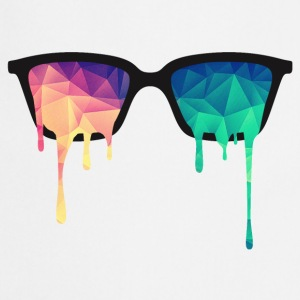 Abstract Psychedelic Nerd Glasses with Color Drops T-Shirts - Cooking Apron
