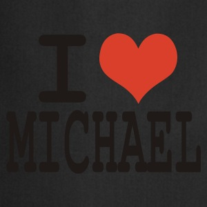 Noir i love michael T-shirts - Tablier de cuisine