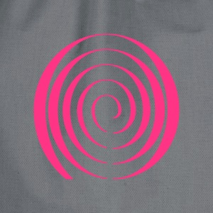 Psychedelic Blacklight T-Shirt Spiral - Turnbeutel