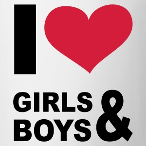 Blanco I LOVE girls and boys - eushirt.com - ES Camisetas - Taza