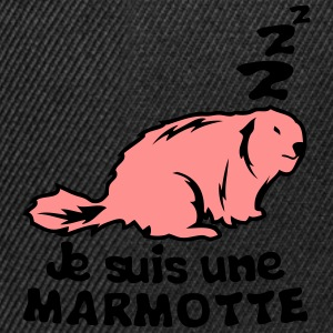 je suis une marmotte animal expression Tee shirts - Casquette snapback