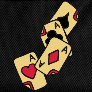 Poker Cards Game Ace Heart Spade Cross Caro Tattoo T-paidat - Lasten reppu