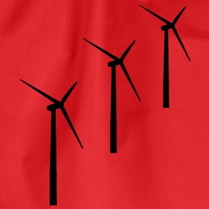 3 wind turbines wind energy T-Shirts - Drawstring Bag