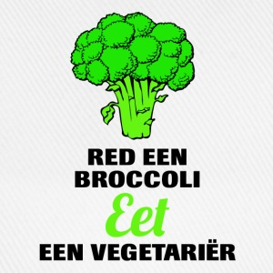Red een broccoli, eet een vegetariër! T-shirts - Baseballcap