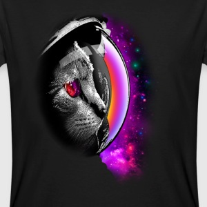 SPACECAT (CHOOSE BLACK FOR SHIRT) - Men's Organic T-shirt