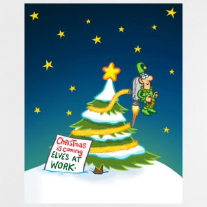 Elf Decorating Xmas Tree Accessories - Baby T-Shirt