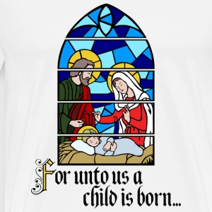 A Child is born Puserot - Miesten premium t-paita