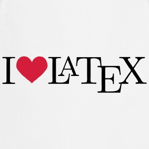 I love LaTeX T-Shirts - Kochschürze